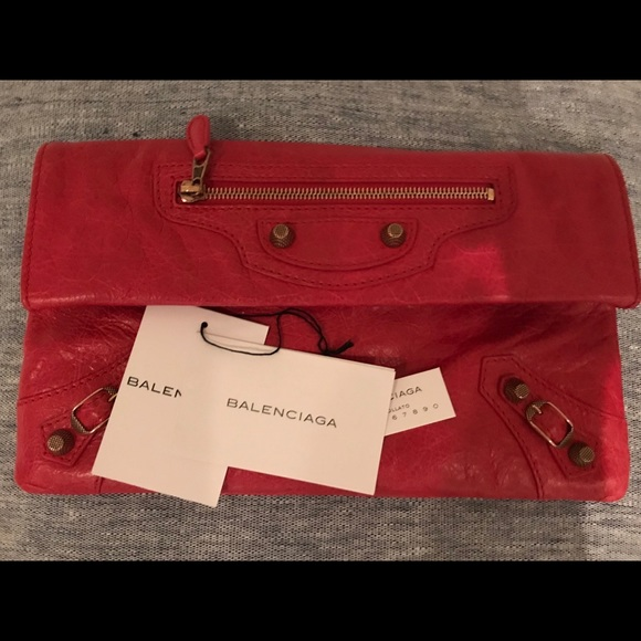 Balenciaga Handbags - balenciaga red clutch envelope